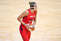 Washington, DC - Sept 17, 2019: Washington Mystics forward Elena Delle Donne (11) brings the ball up court during WNBA Playoff semi final game between Las Vegas Aces and Washington Mystics at the Entertainment & Sports Arena in Washington, DC. The Mystics hold on to beat the Aces 97-95. (Photo by Phil Peters/Media Images International)