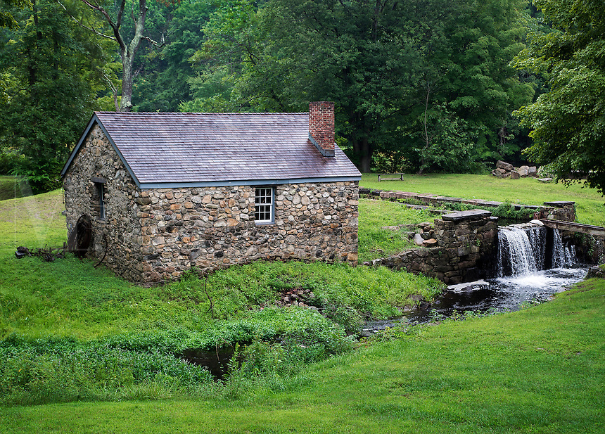 Blacksmith shop building at historic waterloo Village, Stanhope, New Jersey, USA