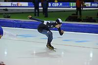 SCHAATSEN: HEERENVEEN: 12-12-2014, IJsstadion Thialf, ISU World Cup Speedskating, Seung-Hi Park (KOR), ©foto Martin de Jong