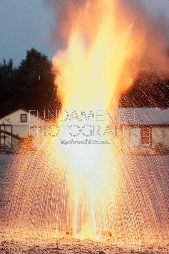 THERMITE PROCESS: REDUCTION OF Fe2O BY ALUMINUM<br /> Exothermic Reaction Produces Molten Iron.<br /> Produces small quantities of molten iron for special purposes like the repair of railway lines. Aluminum is reactive enough to reduce less reactive metal oxides to the metal. Strongly exothermic reaction started by combustion of a magnesium wire ribbon.