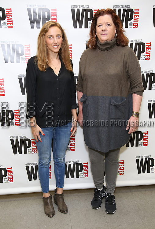 Adrienne Campbell-Holt and Theresa Rebeck attend the WP Theater production of 'What We're Up Against' Photo Calll at WP Theater Office on October 5, 2017 in New York City.