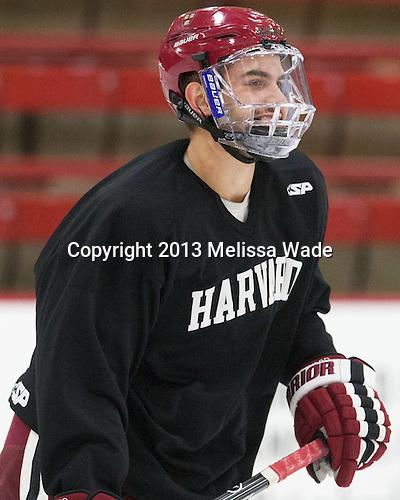 Clay Anderson (Harvard - 3) - The Harvard University Crimson practiced on Friday, October 22, 2013, at Bright-Landry Hockey Center in Cambridge, Massachusetts.