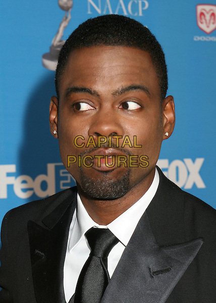 CHRIS ROCK.NAACP Image Awards, Los Angeles, California, USA..February 25th, 2006.Photo: Byron Purvis/AdMedia/Capital Pictures.Ref: BP/ADM.headshot portrait goatee facial hair eyes.www.capitalpictures.com.sales@capitalpictures.com.© Capital Pictures.