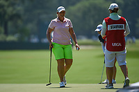 Angela Stanford (USA) after sinking her putt on 4 during round 1 of the 2019 US Women's Open, Charleston Country Club, Charleston, South Carolina,  USA. 5/30/2019.<br /> Picture: Golffile | Ken Murray<br /> <br /> All photo usage must carry mandatory copyright credit (© Golffile | Ken Murray)