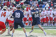 College Park, MD - March 18, 2017: Villanova Wildcats Jake Froccaro (54) scores a goal during the game between Villanova and Maryland at  Capital One Field at Maryland Stadium in College Park, MD.  (Photo by Elliott Brown/Media Images International)