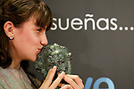 Spanish actress of 'Pa Negre' receives the award for the Best Upcaming Actress Film  on February 13, 2011 in Madrid, Spain.