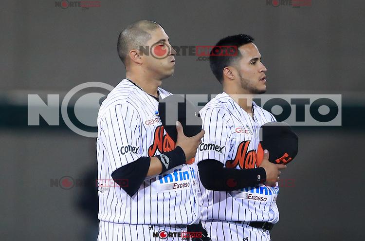 Carlos Gastelum y Jorge Flores , durante el 3er. encuentro de la serie de beisbol entre Tomateros vs Naranjeros. Temporada 2016 2017 de la Liga Mexicana del Pacifico.<br /> &copy; Foto: LuisGutierrez/NORTEPHOTO.COM