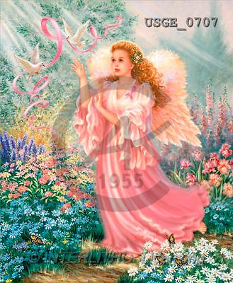 Dona Gelsinger, CHRISTMAS CHILDREN, angels, paintings(USGE0707,#XK#) Engel, angeles