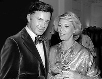 Cliff Robertson and Dinah Shore 1977<br />