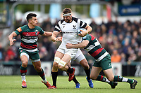 Nick Haining of Bristol Bears takes on the Leinster defence. Gallagher Premiership match, between Leicester Tigers and Bristol Bears on April 27, 2019 at Welford Road in Leicester, England. Photo by: Patrick Khachfe / JMP