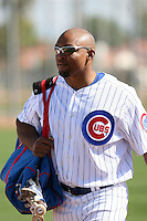Marlon Byrd. Chicago Cubs spring training workouts at Fitch Park, Mesa, AZ - 03/01/2010.Photo by:  Bill Mitchell/Four Seam Images.