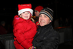Aoife and Barry Leonard at the Arrival of Santa and the turning on of the Christmas Lights in Dunleer...(Photo credit should read Jenny Matthews www.newsfile.ie)....This Picture has been sent you under the conditions enclosed by:.Newsfile Ltd..The Studio,.Millmount Abbey,.Drogheda,.Co Meath..Ireland..Tel: +353(0)41-9871240.Fax: +353(0)41-9871260.GSM: +353(0)86-2500958.email: pictures@newsfile.ie.www.newsfile.ie.