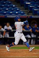 St. Lucie Mets Desmond Lindsay (2) bats during a Florida State League game against the Florida Fire Frogs on April 12, 2019 at First Data Field in St. Lucie, Florida.  Florida defeated St. Lucie 10-7.  (Mike Janes/Four Seam Images)
