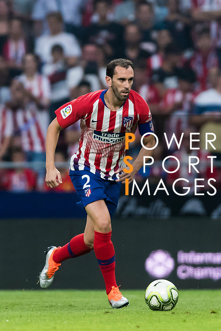 Diego Roberto Godin Leal of Atletico de Madrid in action during their International Champions Cup Europe 2018 match between Atletico de Madrid and FC Internazionale at Wanda Metropolitano on 11 August 2018, in Madrid, Spain. Photo by Diego Souto / Power Sport Images