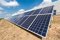 Solar panels providing electricity for potato storage - Lincolnshire, June