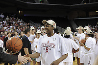 March 14, 2010.  Nnemkadi Ogwumike receives her game ball after the Stanford Cardinal beat the UCLA Bruins to win the 2010 Pac-10 Tournament.