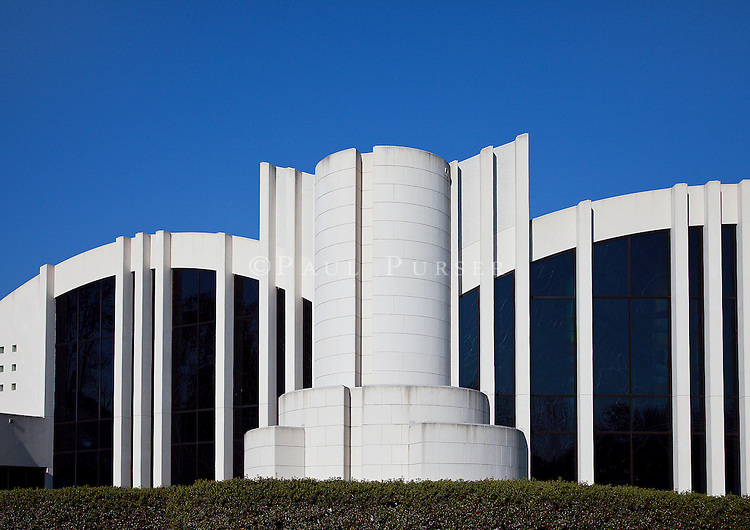 Charlotte NC - The beautiful Temple Israel in Shalom Park