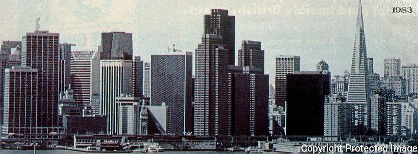 San Francisco:  San Francisco Skyline, 1983.
