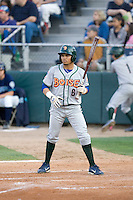 August 6, 2010: Boise Hawks' Alvaro Ramirez (#6) at-bat during a Northwest League game against the Everett AquaSox at Everett Memorial Stadium in Everett, Washington.
