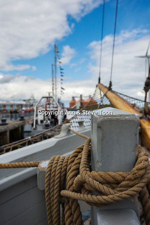 Williams, restored Baltic trader, Blyth Tall Ship Project, Blyth, Northumberland, UK, June 2017