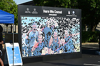 St. Louis, MO - Thursday May 16, 2019: The women's national teams of the United States (USA) and New Zealand (NZL) play in an international friendly match at Busch Stadium. Photo activation mural.