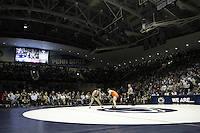 STATE COLLEGE, PA -DECEMBER 19: Matt Brown of the Penn State Nittany Lions after winning a match against Zach Epperly of the Virginia Tech Hokies on December 19, 2014 at Recreation Hall on the campus of Penn State University in State College, Pennsylvania. Penn State won 20-15. (Photo by Hunter Martin/Getty Images) *** Local Caption *** Matt Brown;Zach Epperly