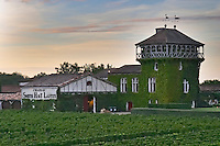 Vineyard. Winery building. Chateau Smith Haut Lafitte, Pessac Leognan, Graves, Bordeaux, France