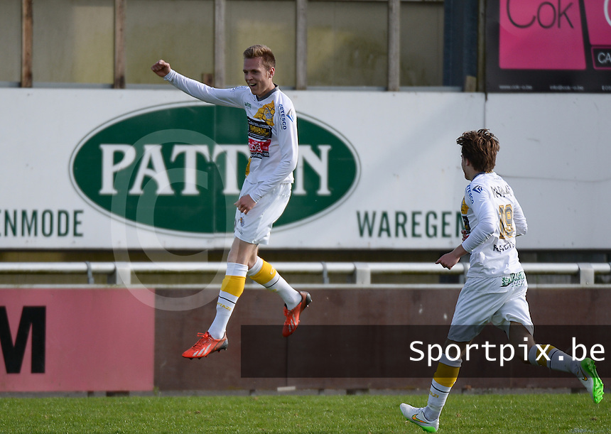 Finale Beker van West-Vlaanderen  KSV Rumbeke -  SC Wielsbeke : Wielsbeke viert de 1-2  voorsprong van Thomas Coopman (21) <br /> foto VDB / BART VANDENBROUCKE