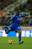 9th December 2017, St James Park, Newcastle upon Tyne, England; EPL Premier League football, Newcastle United versus Leicester City; Wilfred Ndidi of Leicester City about to shoot
