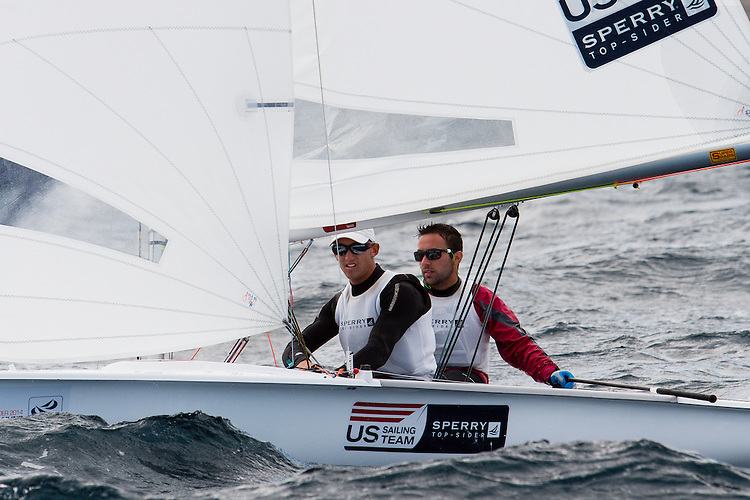 SANTANDER, SPAIN - SEPTEMBER 18:  470 Men - USA89 - Jordan FACTOR / Matthew WEFER in action during Day 7 of the 2014 ISAF Sailing World Championships on September 18, 2014 in Santander, Spain.  (Photo by MickAnderson/SAILINGPIX via Getty Images)