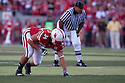 04 Sep 2010: Nebraska Cornhuskers' Cameron Meredith (34) in his ready position against the Western Kentucky Hilltoppers at Memorial Staduim in Lincoln, Nebraska. Nebraska defeated Western Kentucky 49 to 10.