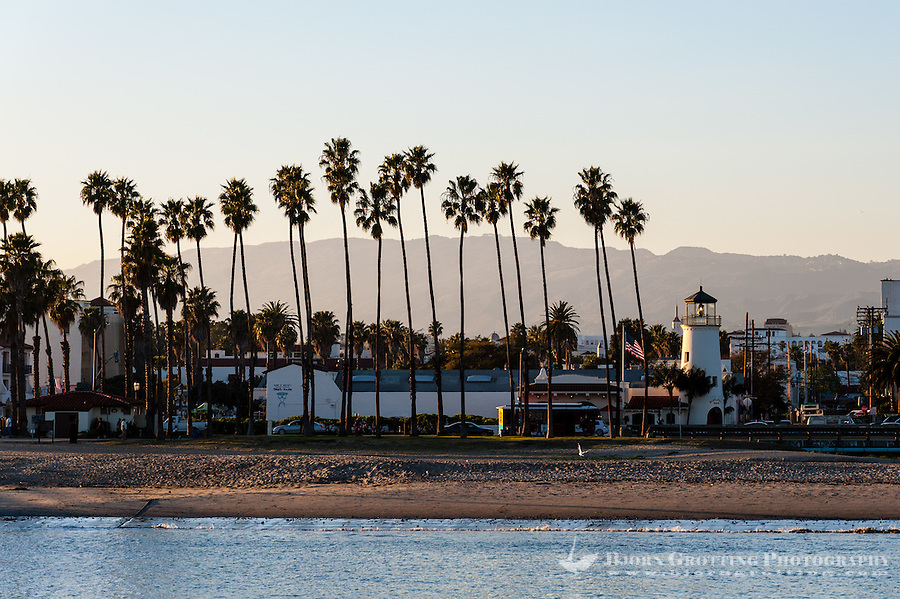United States, California, Santa Barbara. View from Stearns Wharf.