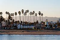 United States, California, Santa Barbara. View from Stearns Wharf.