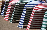 Europe/France/Aquitaine/64/Pyrénées-Atlantiques/Biarritz: détail des cabines de la Grande Plage
