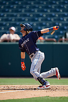 Binghamton Rumble Ponies Gavin Cecchini (10) bats during an Eastern League game against the Bowie Baysox on August 21, 2019 at Prince George's Stadium in Bowie, Maryland.  Bowie defeated Binghamton 7-6 in ten innings.  (Mike Janes/Four Seam Images)