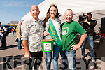 Mark Murphy (Dingle Cookery School) and Tomas Ó Bric with Miss Kerry Mairead Breathnach at An Spud-off Mór in Ballydavid on Sunday evening.