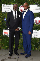 Richard Rountree and Samuel L Jackson<br /> arrives for the One for the Boys charity fashion event at the V&amp;A Museum, London.<br /> <br /> <br /> &copy;Ash Knotek  D3133  12/06/2016