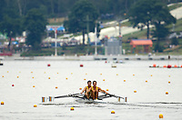 Poznan, POLAND.  2006, FISA, Rowing, World Cup,  AUS  LM2X bow  Tom GIBSON and Sam  BELTZ, move  away from  the  start, on the Malta  Lake. Regatta Course, Poznan, Thurs. 15.05.2006. © Peter Spurrier   ...[Mandatory Credit Peter Spurrier/ Intersport Images] Rowing Course:Malta Rowing Course, Poznan, POLAND