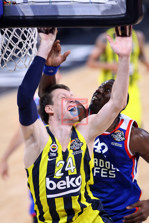 Turkish Airlines Euroleague.<br /> Final Four - Vitoria-Gasteiz 2019.<br /> Semifinals.<br /> Fenerbahce Beko Istanbul vs Anadolu Efes Istanbul: 73-92.<br /> Jan Vesely vs Bryant Dunston.