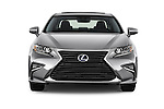 Car photography straight front view of a 2018 Lexus ES 300h 4 Door Sedan Front View