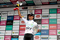 MANIZALES - COLOMBIA - 11 - 02 - 2018: Egan Bernal ciclista colombiano, del Equipo Sky, se adjudica la Colombia Oro y Paz UCI 2.1 / Egan Bernal Colombian cyclist, Team Sky, is awarded the Colombia Oro y Paz UCI 2.1. Photo: VizzorImage /Santiago Osorio /Cont.