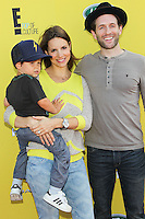 SANTA MONICA, CA, USA - NOVEMBER 16: Miles Howerton, Jill Latiano, Glenn Howerton arrives at the P.S. ARTS Express Yourself 2014 held at The Barker Hanger on November 16, 2014 in Santa Monica, California, United States. (Photo by Celebrity Monitor)