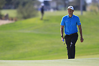 Adrian Meronk (POL) on the 10th green during the final round of  the Saudi International powered by Softbank Investment Advisers, Royal Greens G&CC, King Abdullah Economic City,  Saudi Arabia. 02/02/2020<br /> Picture: Golffile | Fran Caffrey<br /> <br /> <br /> All photo usage must carry mandatory copyright credit (© Golffile | Fran Caffrey)