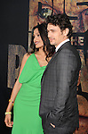 "HOLLYWOOD, CA - JULY 28: Freida Pinto and James Franco arrive at the ""Rise Of The Planet Of The Apes"" Los Angeles Premiere at Grauman's Chinese on July 28, 2011 in Hollywood, California."