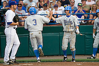 UCLA's CF Beau Aamaral against Florida in Game 2 of the NCAA Division One Men's College World Series on Saturday June 19th, 2010 at Johnny Rosenblatt Stadium in Omaha, Nebraska.  (Photo by Andrew Woolley / Four Seam Images)