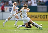 LA Sol's Manya Makoski tackles FC Gold Pride's Erika Arakawa. The LA Sol defeated FC Gold Pride of the Bay Area 1-0 at Home Depot Center stadium in Carson, California on Sunday April 19, 2009.  .