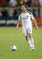 CARSON, CA – NOVEMBER 7:  LA Galaxy midfielder Eddie Lewis (6) during a soccer match at the Home Depot Center, November 7, 2010 in Carson, California. Final score LA Galaxy 2, Seattle Sounders 1.
