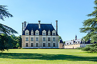 France, Loir-et-Cher (41), Cellettes, Château de Beauregard, aîle sud-est et parc