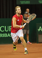 13-sept.-2013,Netherlands, Groningen,  Martini Plaza, Tennis, DavisCup Netherlands-Austria, First Rubber,   Oliver Marach (AUT)<br /> Photo: Henk Koster
