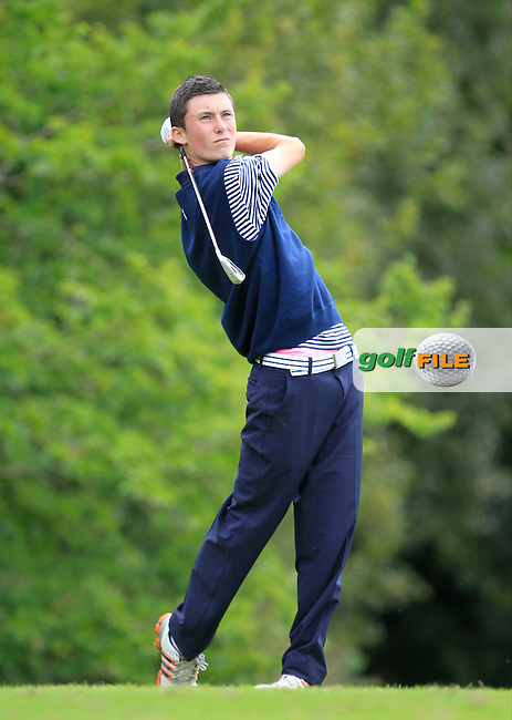 Mark Healy (Munster) on the 4th tee during the Boys Under 15 Interprovincial Championship Afternoon Round at the West Waterford Golf Club on Wednesday 22nd August 2013 <br /> Picture:  Thos Caffrey/ www.golffile.ie